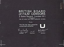 Bambi 1950's British Board Of Film Censors Certificate