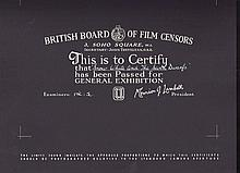 Snow White and the Seven Dwarfs British Board Of Film Censors Certificate