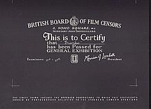 Dumbo British Board Of Film Censors Certificate