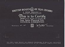 Winnie the Pooh British Board Of Film Censors Certificate
