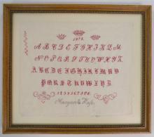 1878 SIGNED SAMPLER