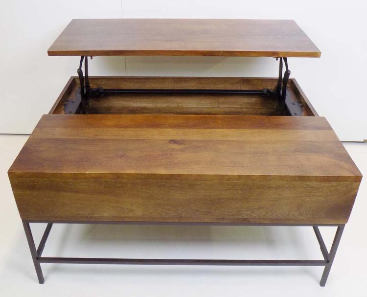 Williams Sonoma Rustic Storage Coffee Table