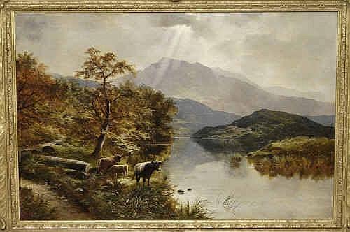 Oil Painting: Edgar Longstaffe (fl.1885-1889)