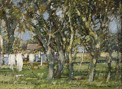 Oil Painting: Kershaw Schofield (1872-1941) Sunlit