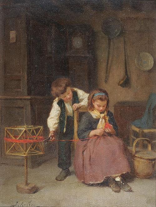 Joseph Aufray (b.1836-c.1886) French Interior