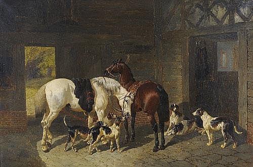 John Frederick Herring Jnr (1815-1907) Hunters and