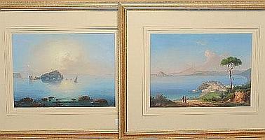 Emmanuel Meuris (1894-1969) Italian Fishing boats