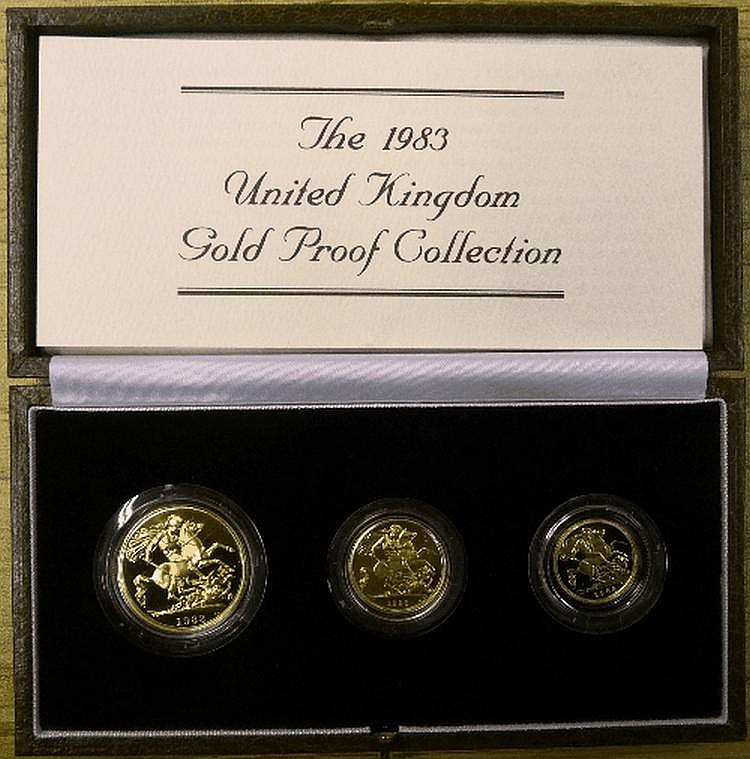 English Coins: Royal Mint Gold Proof Set 1983,