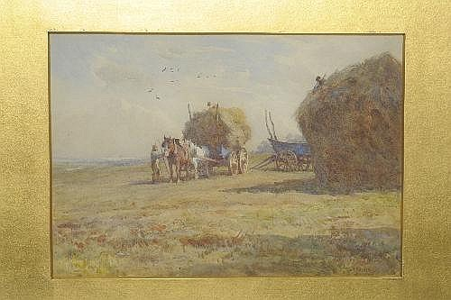 William Frederick Measom (b.1875) Harvesting scene