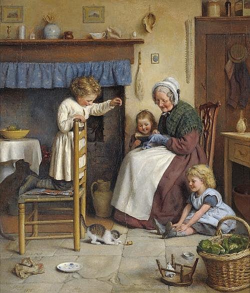 Joseph Clark ROI (1834-1926) ''Teasing the