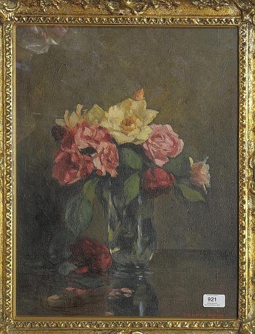 Thomas Binney Gibbs (b.1870) Still life of roses