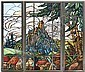 Jacques Gruber (French 1870-1936): A Three-Panel, Jacques Gruber, Click for value