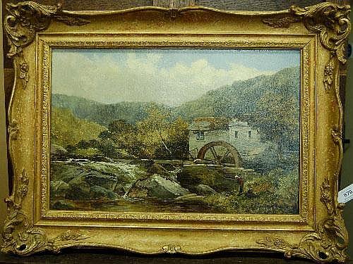 James Callowhill (fl.1880-1884) Figures beside a