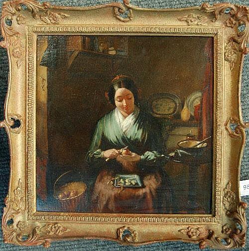 John William Haynes (fl.1852-1882) Girl seated in