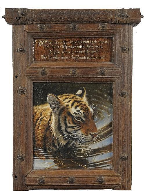 Michael Jackson (British, b.1961) A tiger in water