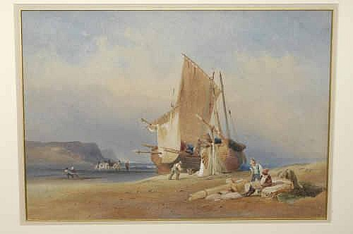 Attributed to John Henry Bradley (b.1832) Coastal