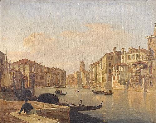 Frans Vervloet (1795-1872) Belgian Canal Scene in