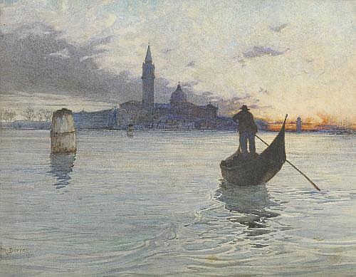 Reginald Barratt (1861-1917) S.Giorgio, Venice