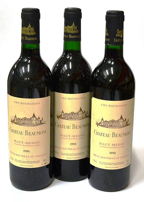 Chateau beaumont 1990 haut medoc x12 twelve for Chateau beaumont