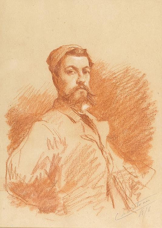 Theobald Chartran (1849-1907) Portrait of a