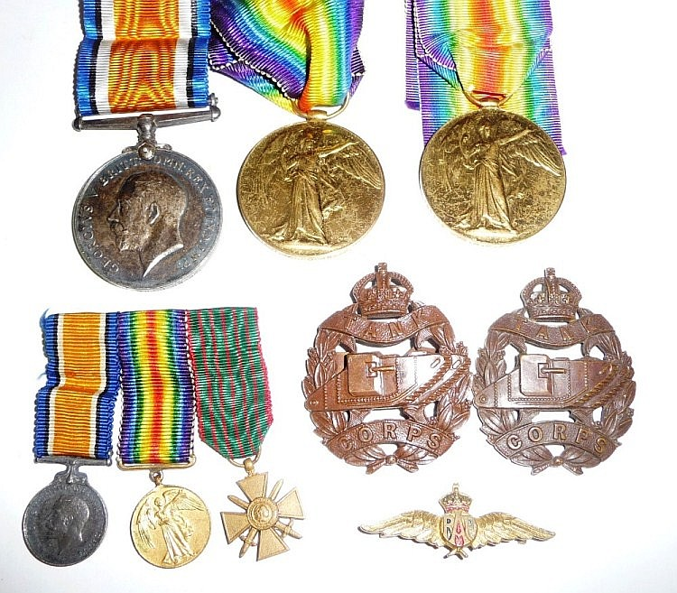 Medals : A First World War Pair, awarded to