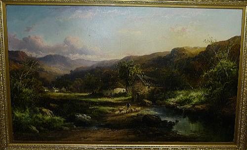 Tom Seymour (1844-1904) ''A Hillside Village,