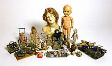 Assorted Miniature Bisque Dolls, China Head Doll,