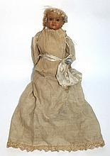 English Bisque Shoulder Head Doll with fixed blue