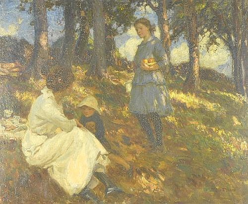 Oil Painting: FredErichk (Fred) Stead (1863-1940)