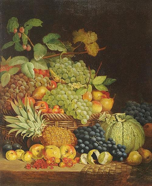 Charles Stuart (fl.1854-1868) Still Life of Fruit