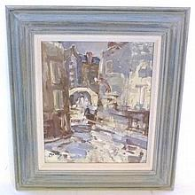 William Dealtry (1915-2008) Venetian canal scene