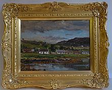 Herbert F. Royle (1878-1950) Cottages beside a