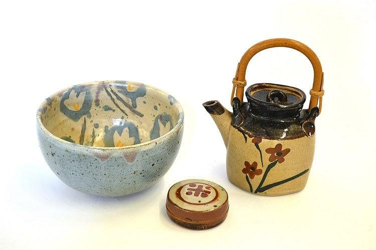 John Maltby (b.1936): A Stoneware Bowl, painted
