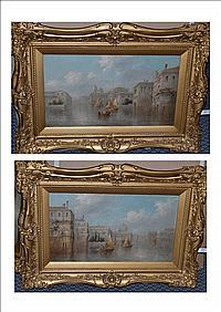 James Salt (1850-1903) Venetian Capriccio; Fishing