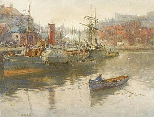 Albert George Stevens (1863-1925) Paddler steamer