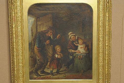 William Weir (fl.1855-d.1865) Fisherman's Return
