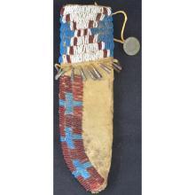 Northern Plains Early Beaded Knife Sheath Ca 1855