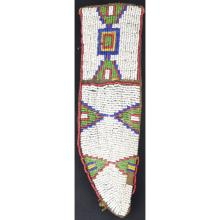 Plains Beaded Indian Sheath Box & Tepee Design