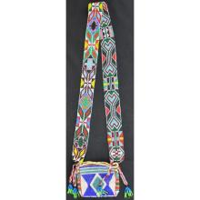 Prairie Beaded Charm Bag Bandolier Style