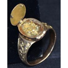 Gold Rush Gold Nugget Nuggets Dust Hidden Compartment Ring California ?