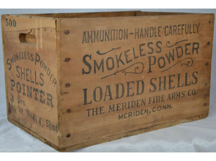POINTER SMOKELESS GUN POWDER SHELL CRATE BOX POINTING DOG CLEAN MINTY