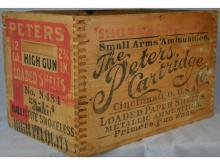 PETERS SHELL CRATE MARKED HIGH GUN & HIGH VELOCITY SHOREBIRD