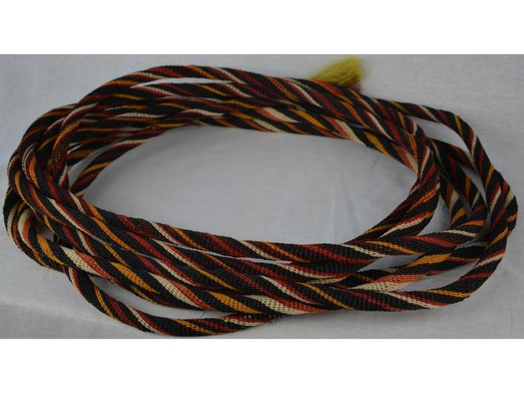 BRAIDED HORSE HAIR ROPE LASSO POLYCHROME COWBOY HORSE