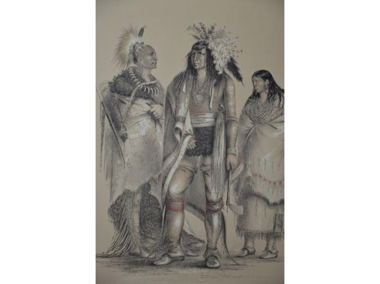 CATLIN NATIVE AMERICAN INDIANS LITHOGRAPH