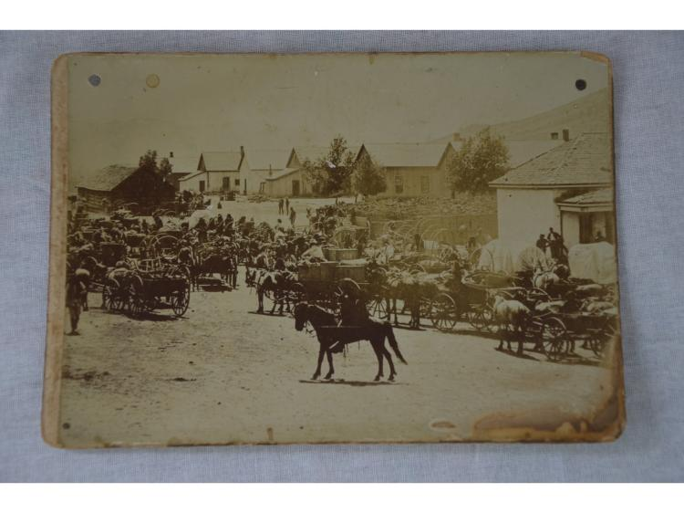 OLD PHOTOGRAPH NATIVE AMERICAN INDIAN & MISC TOWN.