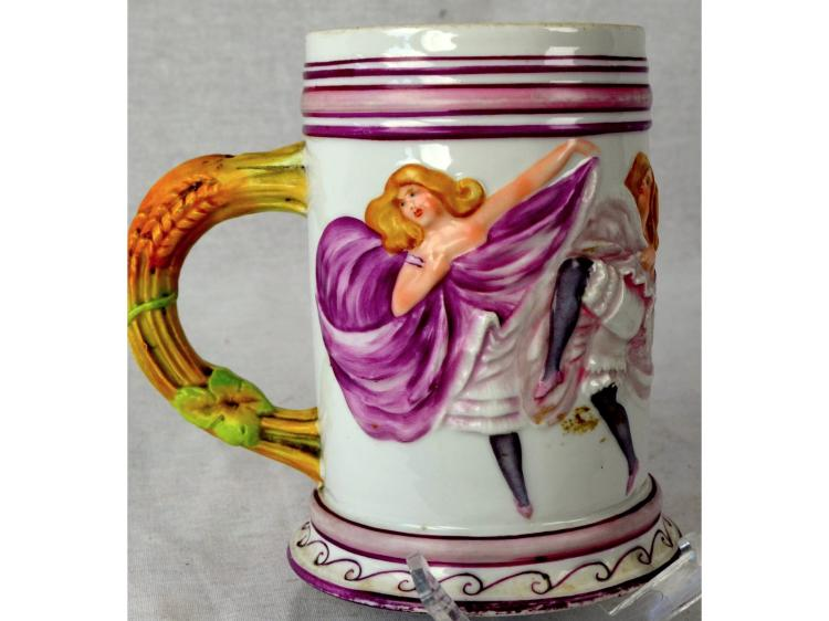 BEER MUG OR STEIN 4 DANCING LADIES