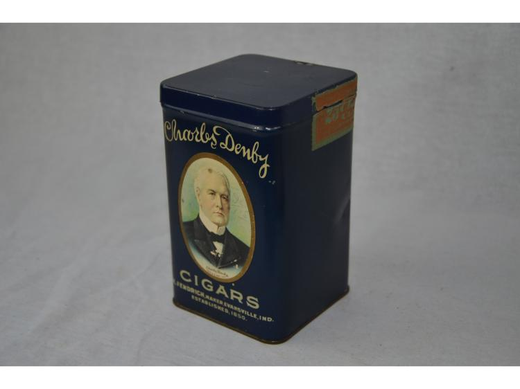 CIGAR TIN BOX CHARLES DENBY