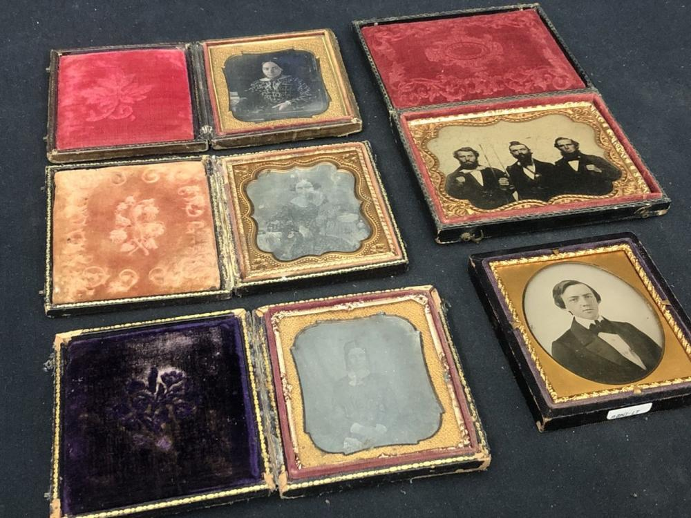 Lot of 5 Victorian Daguerreotypes/ Ambrotypes?