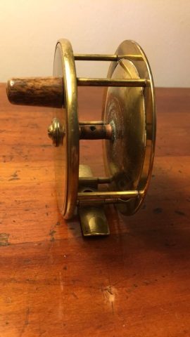 Antique Brass Reel Unsigned 4
