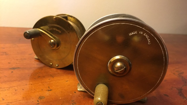 Lot of 2 Brass Fly Reels Made in England